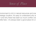 Sense of Place Label